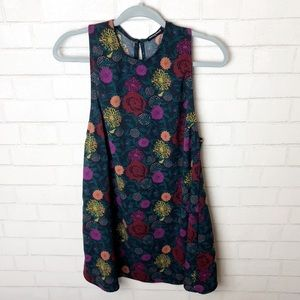 American Apparel Green Floral Dress